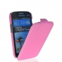 Фирменный вертикальный откидной чехол-флип для Samsung Galaxy S Duos GT-S7562 розовый кожаный..