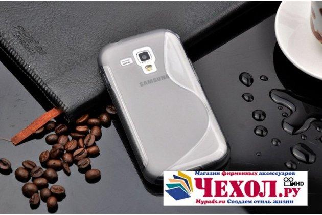 Фирменная ультра-тонкая полимерная из мягкого качественного силикона задняя панель-чехол-накладка для Samsung Galaxy S Duos GT-S7562 серая