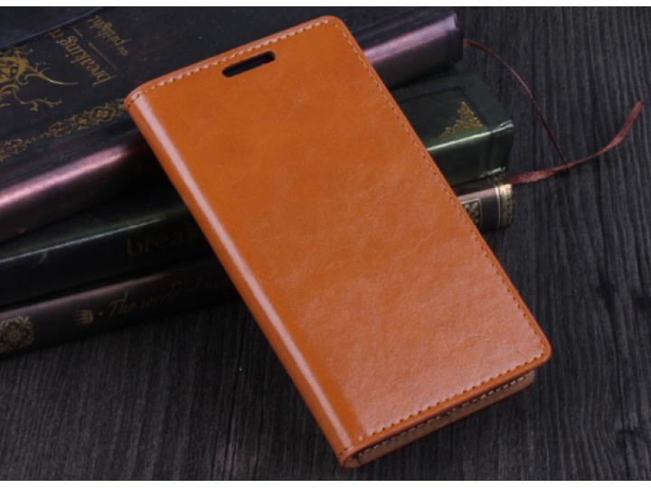 Фирменный чехол-книжка с мульти-подставкой и визитницей для Samsung Galaxy S2 / S2 Plus GT-i9100/i9105 оранжев..