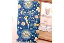 "Фирменный чехол-книжка с подставкой для Samsung Galaxy S3 Mini GT-i8190 тематика ""Олени в цветах"""