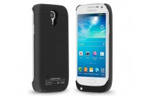 Чехол-бампер со встроенной усиленной мощной батарей-аккумулятором большой повышенной расширенной ёмкости 2500 mAh для Samsung Galaxy S3 Mini GT-i8190 черный + гарантия