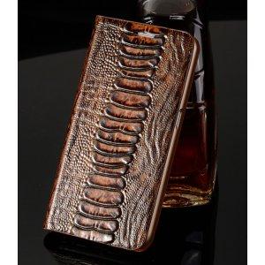 """Фирменная неповторимая экзотическая чехол-книжка из кожи крокодила с фактурным тиснением для Samsung Galaxy S3 GT-I9300/Duos GT-I9300I тематика """"Кофейный Коктейль"""". Только в нашем магазине. Количество ограничено."""