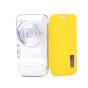 Чехол-книжка для Samsung Galaxy S4 Zoom SM-C101 желтый кожаный..