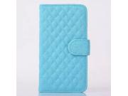 Стёганая кожа в ромбик с узором чехол-книжка для Samsung Galaxy S4 Mini i9190/i9192/i9195 синий..