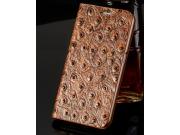 Фирменный роскошный эксклюзивный чехол с объёмным рельефом кожи страуса коричневый для Samsung Galaxy S4 Mini ..