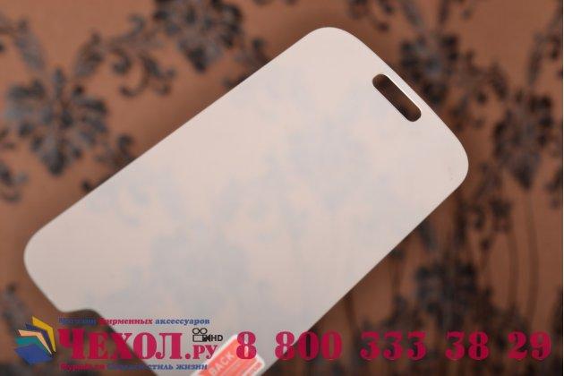 Фирменное защитное закалённое противоударное стекло премиум-класса из качественного японского материала с олеофобным покрытием для Samsung Galaxy S4 Mini GT-I9190/Duos GT-I9192