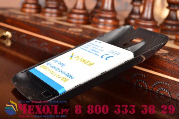 Усиленная батарея-аккумулятор большой повышенной ёмкости 4800mAh для телефона Samsung Galaxy S4 Mini / S4 Mini Duos GT-i9190/i9192/i9195 + задняя крышка в комплекте черная + гарантия