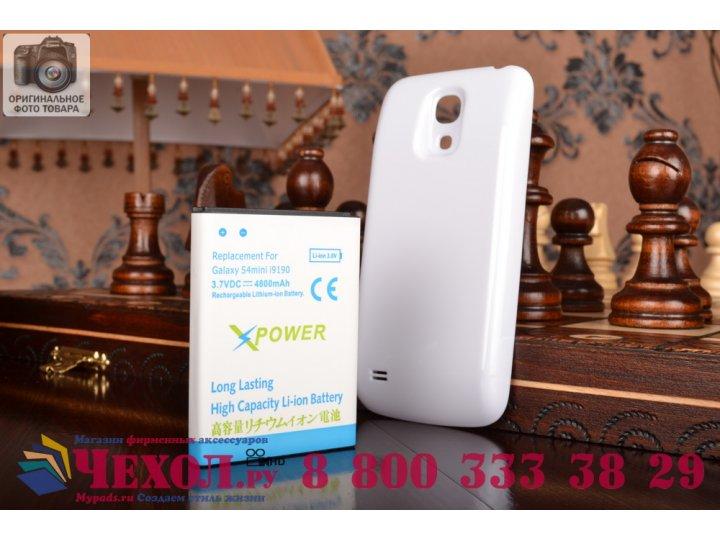 Усиленная батарея-аккумулятор большой повышенной ёмкости 4800mah для телефона Samsung Galaxy S4 Mini / S4 Mini..