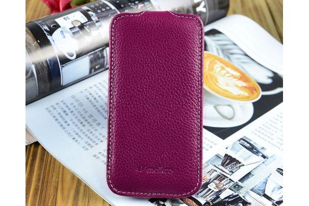 Чехол откидной вертикальный для Samsung Galaxy S4 GT-i9500/i9505 фиолетовый кожаный