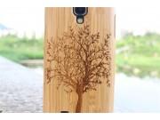 Фирменная оригинальная деревянная бамбуковая задняя панель-крышка-накладка для Samsung Galaxy S4 GT-i9500/i950..