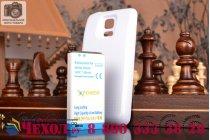 Усиленная батарея-аккумулятор большой ёмкости 4800mAh для телефона Samsung GALAXY S5 mini + задняя крышка в комплекте белая + гарантия