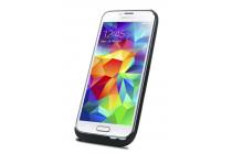 Чехол-бампер со встроенной усиленной мощной батарей-аккумулятором большой повышенной расширенной ёмкости 4800mah для Samsung Galaxy S5 SM-G900F черный + гарантия
