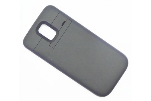Чехол-бампер со встроенной усиленной мощной батарей-аккумулятором большой повышенной расширенной ёмкости 3800mAh для Samsung Galaxy S5 SM-G900H/G900F черный + гарантия
