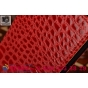 Фирменный чехол-книжка с подставкой для Samsung Galaxy S6 Edge Plus + SM-G928 лаковая кожа крокодила цвет крас..