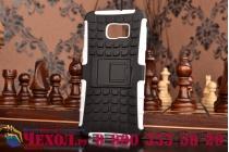 """Противоударный усиленный ударопрочный фирменный чехол-бампер-пенал для Samsung Galaxy S6 Edge Plus + SM-G928 5.7"""" белый"""