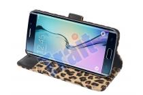 Чехол-защитный кожух для Samsung Galaxy S6 Edge Plus + SM-G928 леопардовый коричневый