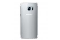 "Чехол-книжка с дизайном ""Clear View Cover""  для Samsung Galaxy S6 Edge Plus + SM-G928 5.7"" серебристый"