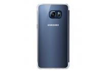 "Чехол-книжка с дизайном ""Clear View Cover""  для Samsung Galaxy S6 Edge Plus + SM-G928 5.7"" синий"
