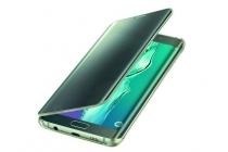 "Чехол-книжка с дизайном ""Clear View Cover"" для Samsung Galaxy S6 Edge Plus + SM-G928 5.7"" зелёный"