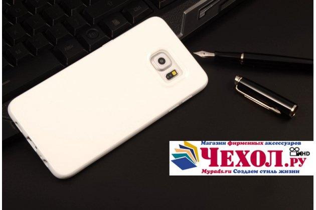 """Фирменная ультра-тонкая полимерная из мягкого качественного силикона задняя панель-чехол-накладка для Samsung Galaxy S6 Edge Plus + SM-G928 5.7"""" белая"""