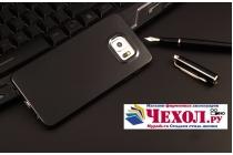 """Фирменная ультра-тонкая полимерная из мягкого качественного силикона задняя панель-чехол-накладка для Samsung Galaxy S6 Edge Plus + SM-G928 5.7"""" черная"""
