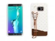 Фирменная необычная уникальная полимерная мягкая задняя панель-чехол-накладка для Samsung Galaxy S6 Edge Plus ..