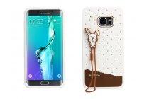 """Фирменная необычная уникальная полимерная мягкая задняя панель-чехол-накладка для Samsung Galaxy S6 Edge Plus + SM-G928 5.7"""" """"тематика Андроид в Белом Шоколаде"""""""