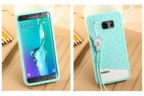 """Фирменная необычная уникальная полимерная мягкая задняя панель-чехол-накладка для Samsung Galaxy S6 Edge Plus + SM-G928 5.7"""" """"тематика Андроид в Мятном  Шоколаде"""""""