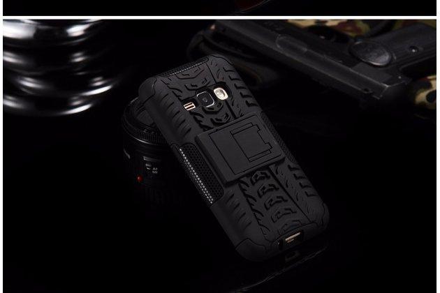 """Противоударный усиленный ударопрочный фирменный чехол-бампер-пенал для Samsung Galaxy S6 Edge Plus + SM-G928 5.7"""" черный"""