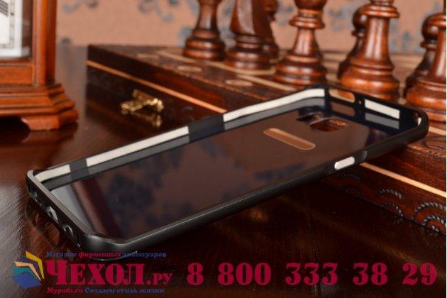 """Фирменная металлическая задняя панель-крышка-накладка из тончайшего облегченного авиационного алюминия для Samsung Galaxy S6 Edge Plus + SM-G928 5.7"""" черная"""