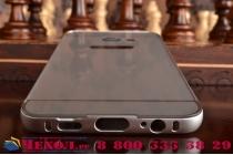 """Фирменная металлическая задняя панель-крышка-накладка из тончайшего облегченного авиационного алюминия для Samsung Galaxy S6 Edge Plus + SM-G928 5.7"""" серебристая"""