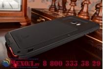Неубиваемый водостойкий противоударный водонепроницаемый грязестойкий влагозащитный ударопрочный фирменный чехол-бампер для Samsung Galaxy S6 Edge Plus + SM-G928 черный цельно-металлический