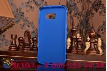 """Противоударный усиленный ударопрочный фирменный чехол-бампер-пенал для Samsung Galaxy S6 Edge Plus + SM-G928 5.7"""" синий"""