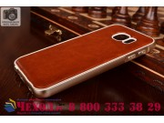 Фирменная роскошная элитная премиальная задняя панель-крышка на металлической основе обтянутая импортной кожей..