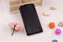 Фирменный вертикальный откидной чехол-флип для Samsung Galaxy Ace Duos GT-S6802 черный кожаный