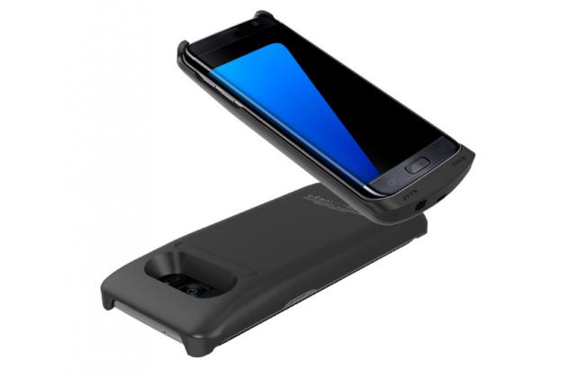 """Чехол-бампер со встроенной усиленной мощной батарей-аккумулятором большой повышенной расширенной ёмкости 5200mAh для Samsung Galaxy S7 edge G9350/G935/S7 edge Injustice Edition 5.5"""" черный + гарантия"""