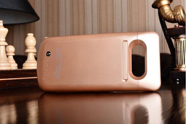 """Чехол-бампер со встроенной усиленной мощной батарей-аккумулятором большой повышенной расширенной ёмкости 5200mAh для Samsung Galaxy S7 edge G9350/G935/S7 edge Injustice Edition 5.5"""" золотой + гарантия"""