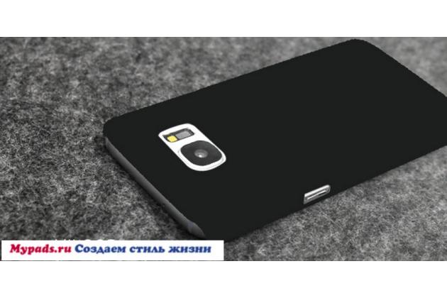 """Фирменная задняя панель-крышка-накладка из тончайшего и прочного пластика для Samsung Galaxy S7 edge G9350/G935/S7 edge Injustice Edition 5.5"""" темно-синяя"""