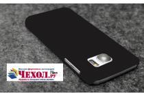 """Фирменная задняя панель-крышка-накладка из тончайшего и прочного пластика для Samsung Galaxy S7 edge G9350/G935/S7 edge Injustice Edition 5.5"""" черная"""