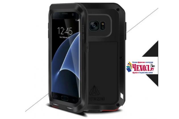 """Неубиваемый водостойкий противоударный водонепроницаемый грязестойкий влагозащитный ударопрочный фирменный чехол-бампер для  Samsung Galaxy S7 edge G9350/G935/S7 edge Injustice Edition 5.5"""" цельно-металлический"""