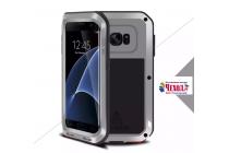 """Неубиваемый водостойкий противоударный водонепроницаемый грязестойкий влагозащитный ударопрочный фирменный чехол-бампер для Samsung Galaxy S7 edge G9350/G935/S7 edge Injustice Edition 5.5"""" цельно-металлический серебряный"""