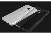 """Фирменная ультра-тонкая полимерная из мягкого качественного силикона задняя панель-чехол-накладка для Samsung Galaxy S7 edge G9350/G935 5.5"""" прозрачная с заглушками"""