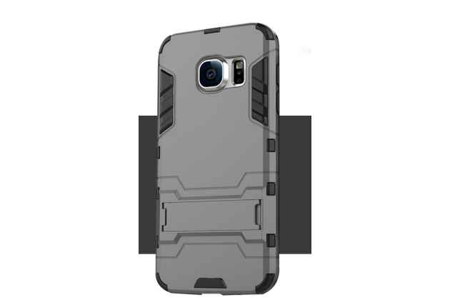 """Противоударный усиленный ударопрочный фирменный чехол-бампер-пенал для Samsung Galaxy S7 edge G9350/G935 5.5""""  черный"""
