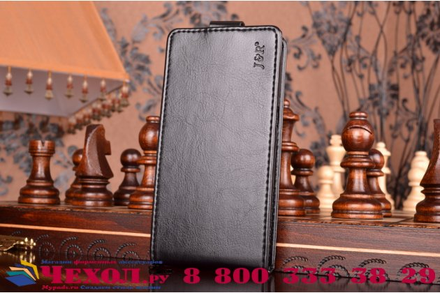"""Фирменный оригинальный вертикальный откидной чехол-флип для  Samsung Galaxy S7 G930 / G9300 5.1""""  черный из натуральной кожи """"Prestige"""" Италия"""