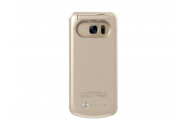 """Чехол-бампер со встроенной усиленной мощной батарей-аккумулятором большой повышенной расширенной ёмкости 4200mAh для Samsung Galaxy S7 G930 / G9300 5.1"""" золотой + гарантия"""