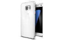 """Фирменная ультра-тонкая полимерная из мягкого качественного силикона задняя панель-чехол-накладка для Samsung Galaxy S7 G930 / G9300 5.1"""" прозрачная"""