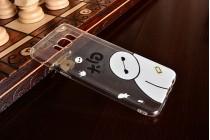 Фирменная задняя панель-чехол-накладка из прозрачного 3D  силикона с объёмным рисунком для Samsung Galaxy S8 SM-G9500  тематика Красное платье которая огибает логотип чтобы была видна марка телефона