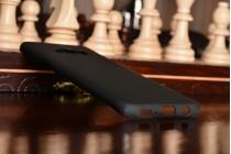 Фирменная задняя панель-крышка-накладка из тончайшего и прочного пластика для Samsung Galaxy S8 SM-G9500 черная