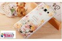 """Фирменная роскошная задняя панель-чехол-накладка  из мягкого силикона с безумно красивым расписным 3D рисунком на Samsung Galaxy S8 SM-G9500 """"Тематика Королевские Розы"""""""