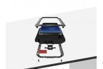 Неубиваемый водостойкий противоударный водонепроницаемый грязестойкий влагозащитный ударопрочный фирменный чехол-бампер для Samsung Galaxy S8 SM-G9500 цельно-металлический белый